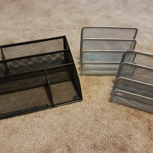 Bundle of 3 office desk organizers
